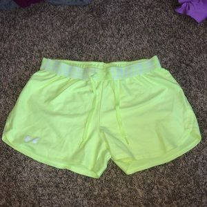Neon Yellow Under Armour Shorts